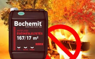 Bochemit Antiflash termékünk már B osztályú tűzvédelmet nyújt